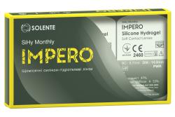 Силікон-гідрогелеві контактні лінзи щомісячної заміни Solente Impero SiHy Monthly