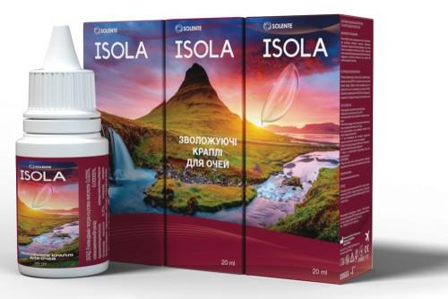 Зволожуючі краплі з гіалуроновою кислотою Solente Isola
