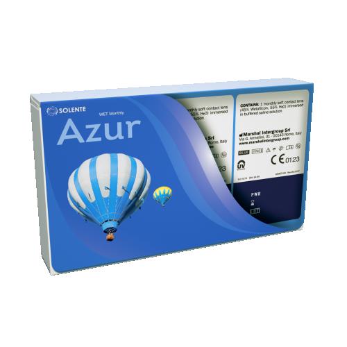 Гідрогелеві контактні лінзи щомісячної заміни Solente Azur WET Monthly