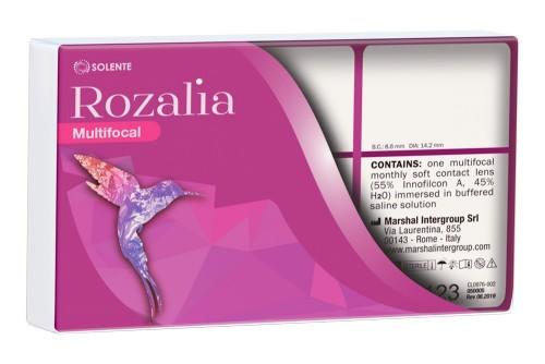 Силікон-гідрогелеві мультифокальні контактні лінзи щомісячної заміни Solente Rozalia Multifocal